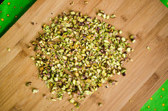 Chopping pistachio Royalty Free Stock Images