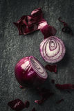 Chopping red Onion Stock Photos