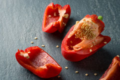 Chopping red Pepper Royalty Free Stock Images