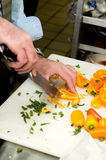 Chopping Vegetables - Dinner Preparation Royalty Free Stock Photography