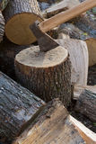Chopping wood Stock Image