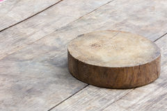 Chopping wooden board with copyspace Stock Images