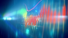 Choppy business line chart Royalty Free Stock Image
