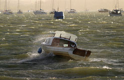 Choppy Seas. Choppy conditions, Poole Harbour Royalty Free Stock Photos
