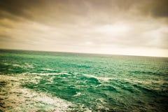 Choppy seas and the horizon Stock Images