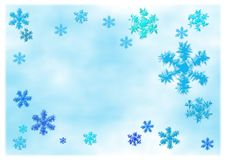 Choppy snowflakes Stock Photography