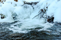 Choppy waters and ice Stock Photography