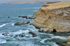 Choppy Waters at Paracas National Reserve, Peru. Royalty Free Stock Photo
