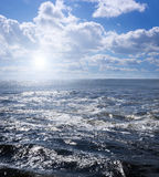 Choppy waters on a summer day Royalty Free Stock Image
