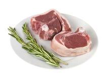 Chops овечки с тимианом стоковые фото