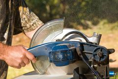 Chopsaw in Action Royalty Free Stock Image