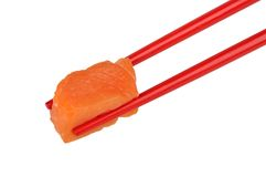 chopstick κόκκινος σολομός στοκ εικόνες με δικαίωμα ελεύθερης χρήσης