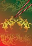 chopstick κόκκινο Διανυσματική απεικόνιση