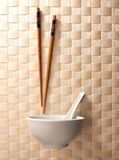chopstick κύπελλων Στοκ Εικόνες