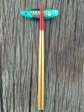 Chopstick στο ξύλινο υπόβαθρο Στοκ εικόνες με δικαίωμα ελεύθερης χρήσης