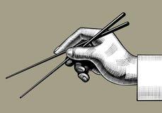 chopstick χρησιμοποίηση Στοκ φωτογραφία με δικαίωμα ελεύθερης χρήσης