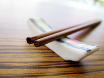 Chopstick. Close up for a pair of wooden chopstick, Chinese culture tools for eating stock image