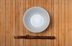 Chopstick on bamboo Stock Photo
