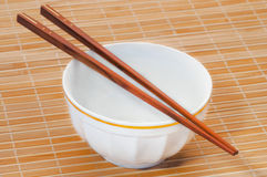 Chopstick on bamboo Stock Photography