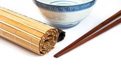 Chopstick on bamboo Royalty Free Stock Images