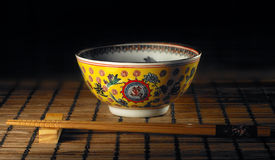 Chopstick and bowl Stock Image