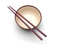 Chopstick and Bowl Royalty Free Stock Photos