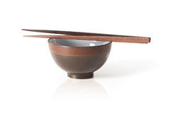 Chopstick and Bowl Royalty Free Stock Photos
