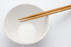 Chopstick with bowl Stock Photos