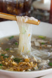 Chopstick clamp the vietnamese noodle vertical Stock Photo