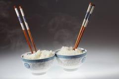 Chopstick e arroz fotografia de stock
