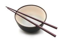 Chopstick e bacia 3 foto de stock