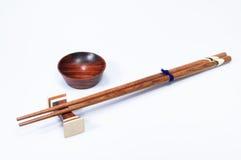 Chopstick e bacia Fotos de Stock