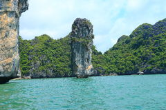 Chopstick island rock formations Royalty Free Stock Image
