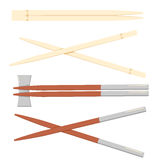 Chopstick japanese isolated icon. Wooden chopsticks isolated on white background. Vector concept illustration for design Royalty Free Stock Photos