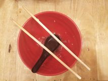 Chopstick na pucharze Obraz Stock