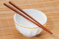 Chopstick no bambu fotografia de stock