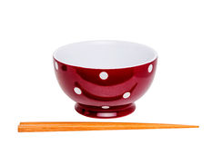 Chopstick and Red Bowl III Stock Images