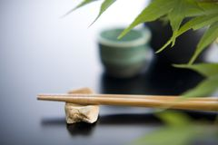 Chopstick rest and chopsticks Royalty Free Stock Photo