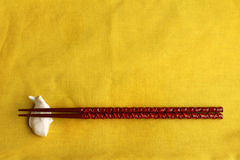 Chopstick rest and chopsticks Royalty Free Stock Photography
