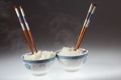 Chopstick and rice Stock Photography