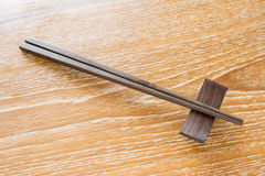 Chopstick on table Royalty Free Stock Image