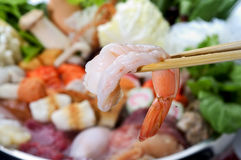 chopsticks γαρίδες στοκ εικόνες με δικαίωμα ελεύθερης χρήσης