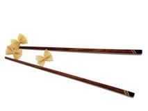 chopsticks ζυμαρικά Στοκ εικόνες με δικαίωμα ελεύθερης χρήσης