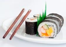 chopsticks ιαπωνικά σούσια τροφίμων παραδοσιακά Στοκ Φωτογραφία