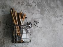 Chopsticks και κουτάλι Στοκ φωτογραφίες με δικαίωμα ελεύθερης χρήσης