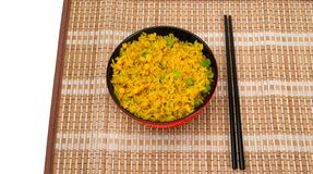 chopsticks κύπελλων ρύζι Στοκ φωτογραφία με δικαίωμα ελεύθερης χρήσης