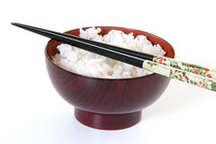 chopsticks κύπελλων ρύζι Στοκ Εικόνες