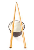 chopsticks κύπελλων Στοκ Φωτογραφίες