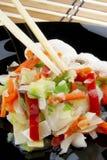 chopsticks λαχανικά Στοκ εικόνες με δικαίωμα ελεύθερης χρήσης