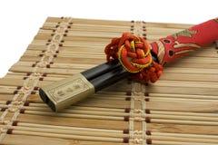 chopsticks πετσέτα δύο Στοκ Εικόνες
